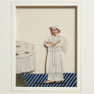 A Waiter Painted on Mica -- HEIC Company School