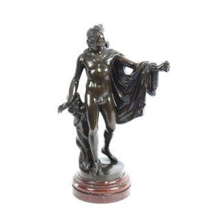 Antique Victorian Bronze Sculpture of Greek God Apollo 19th Century