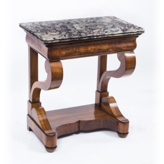 Antique Charles X Period Walnut Console Table c.1830