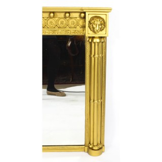 Antique William IV Giltwood Overmantle Mirror Circa 1830 19TH C