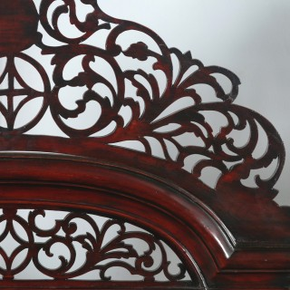 "Antique 6ft"" Victorian Anglo Indian Colonial Raj Super King Four Poster Bed (Circa 1860)"