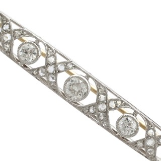 2.06 ct Diamond and Platinum Brooch - Antique French Circa 1920