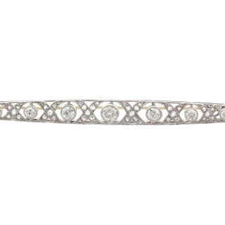 2.06 ct Diamond and Platinum Brooch - Antique French Circa 1920
