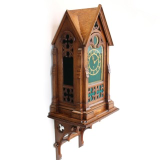 Large Victorian Gothic Revival bracket clock