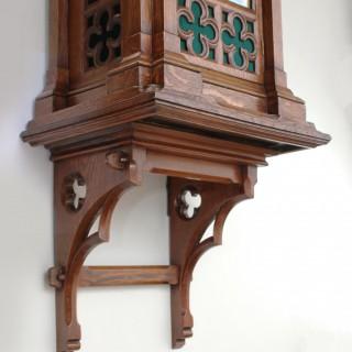 Large Victorian Gothic Revival bracket clock