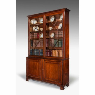 George III Period Mahogany Two Door Bookcase