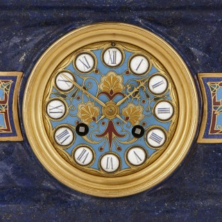Lapis, enamel, and gilt bronze garniture