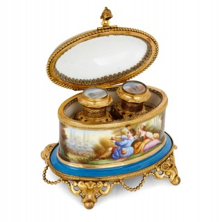 Antique French Sèvres style porcelain perfume box