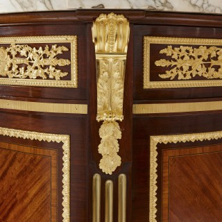 Marble, mahogany and ormolu Neoclassical commode