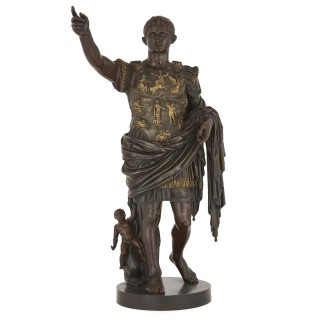 Bronze figure of Augustus after Roman period original