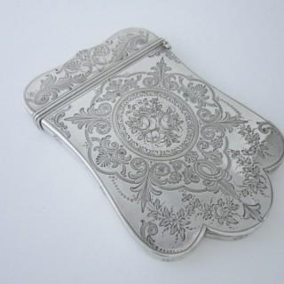 Antique Victorian Sterling silver visiting card case
