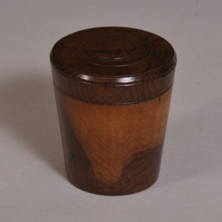 Antique Treen 19th Century Glass Tumbler in a Cedar Wood Case