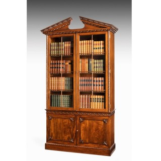 Chippendale Period Mahogany Low Waisted Bookcase
