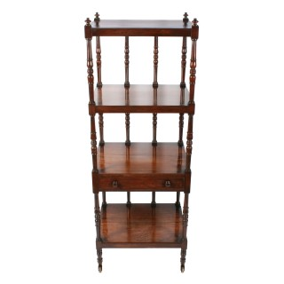 Georgian Four Tier Rosewood Whatnot