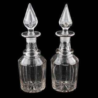Pair of Early Victorian Decanters