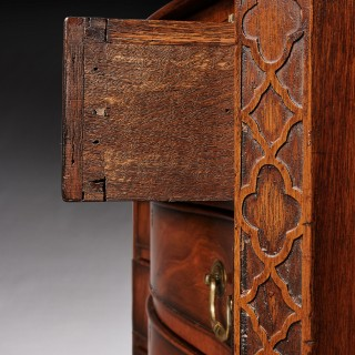 Quality Antique Serpentine Mahogany Chest of Drawers