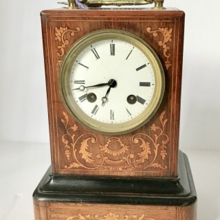 French Marquetry Carriage Clock