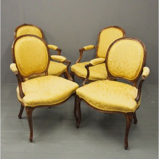 2 Pairs of French Louis XV Style Armchairs