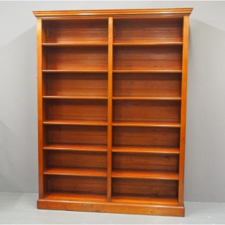 Swedish Mahogany Open Bookcase