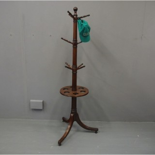 George III Mahogany Coat or Umbrella Stand