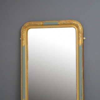 LOUIS PHILIPPE REVIVAL GILTWOOD WALL MIRROR