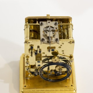 Engraved striking Alarm Carriage clock, Drocourt