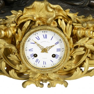 Large 19th Century Raingo Fres, Paris Clock set.
