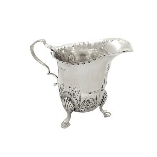 Antique Sterling Silver 'Animals' Jug 1914