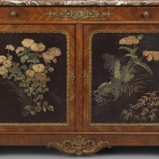 Régence Style Side Cabinet with Lacquer Panels Firmly Attributed to Paul Sormani