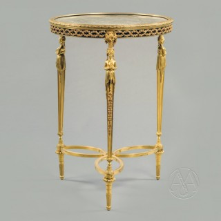 Fine Louis XVI Style Gilt-Bronze Gueridon In the Manner of Adam Weisweiler,