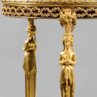 Fine Louis XVI Style Gilt-Bronze Gueridon In the Manner of Adam Weisweiler,