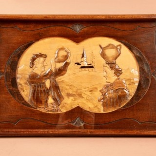 An Art Deco Very Stylish Carved Wooden Tray. Circa 1920