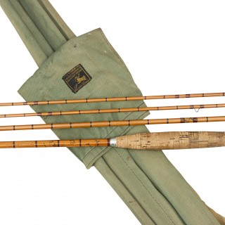 Vintage Three Piece Hardy Trout Fly Rod, The 'C.C. de France'.