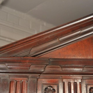 An exceptional George II period early 18th Century Architectural Cuban Mahogany Corner Cupboard