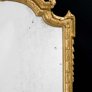 Mid- 19th Century Gesso and Giltwood Pier Mirror