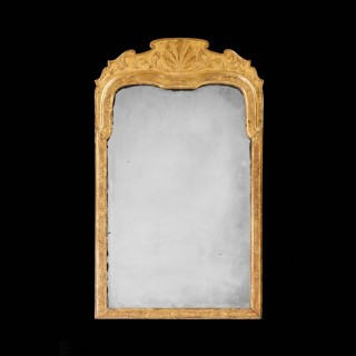 Queen Anne Period Giltwood Mirror