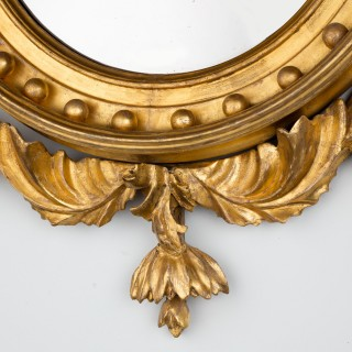 Regency Period Giltwood Convex Mirror
