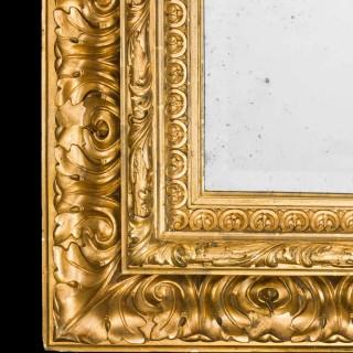 Fine Italian 19th Century Giltwood Mirror
