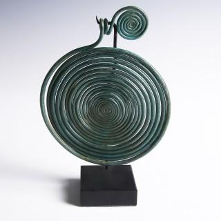 Large Bronze Age Spiral Pendant
