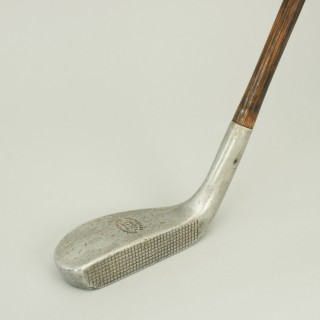 Vintage Hickory Golf Club, Braid Mills Long Nose Putter.