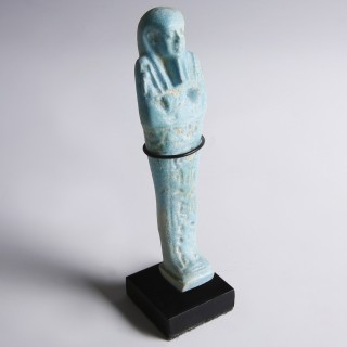Egyptian Blue Faience Shabti