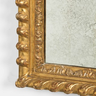 Pair of Mid 19th Century Giltwood and Gesso Mirrors