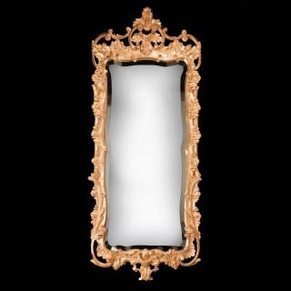 Mid 18th Century Rococo Giltwood Mirror