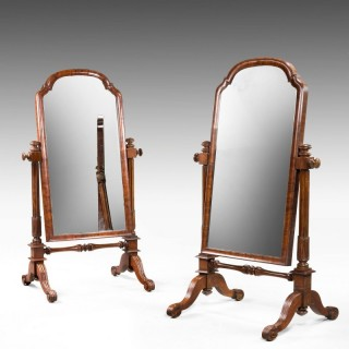 Pair of Mid 19th Century Children's Cheval Mirrors