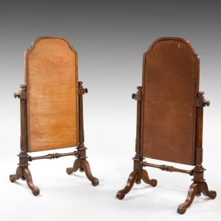 Pair of Mid 19th Century Children's Cheval Mirrors