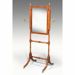 George III Period Cheval Mirror