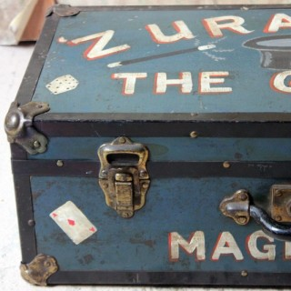 """An Early/Mid 20thC Magicians Travelling Suitcase; """"Zurando The Great"""" c.1940"""
