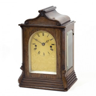 Small English Fusee bracket clock by French, London