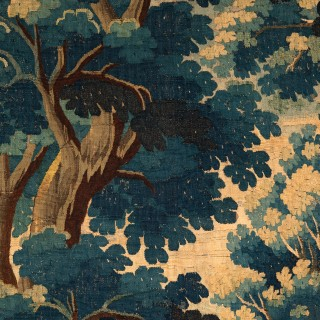 PAIR OF EARLY 18TH CENTURY AUBUSSON VERDURE TAPESTRIES