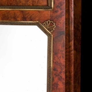 Austrian Late 19th Century Burr Birch Mirror